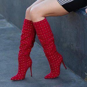 NIB Fenella Slouchy Stiletto Heeled Boots